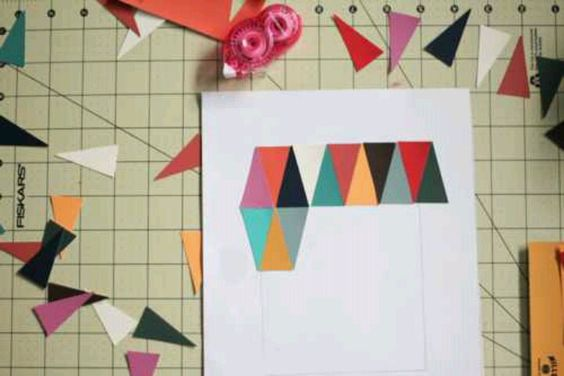 Triangles out of paint samples