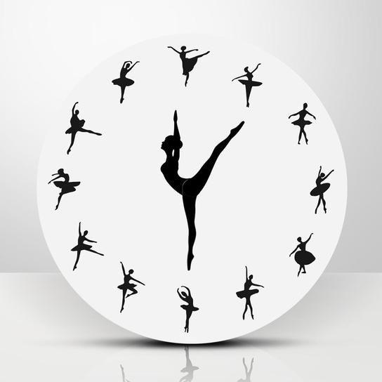 Dancing Ballerina Wall Clock Oformlenie Detskoj Dlya Devochki Tancevalnye Komnaty Dekor Chasov