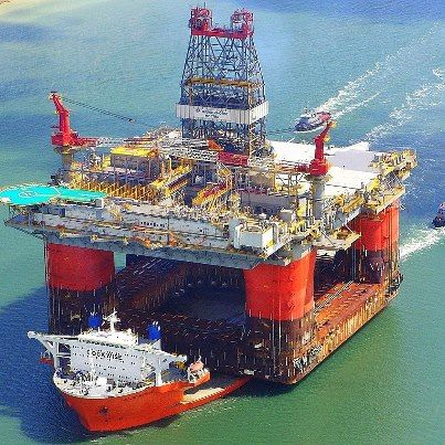 Blue Marlin is a semi-submersible heavy lift ship designed to transport very large semi-submersible drilling rigs above the transport ship's deck.