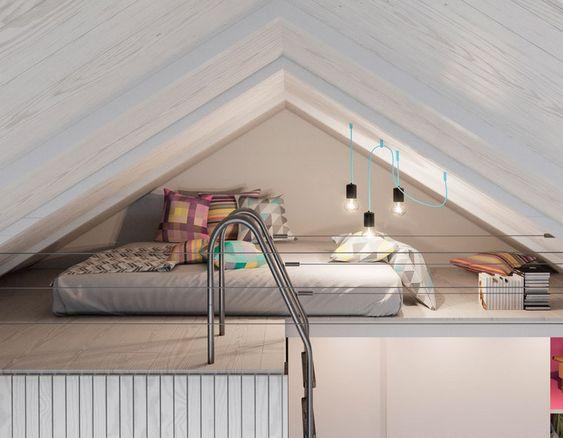 dormitorio con techo abovedado ideas para espacios pequeños