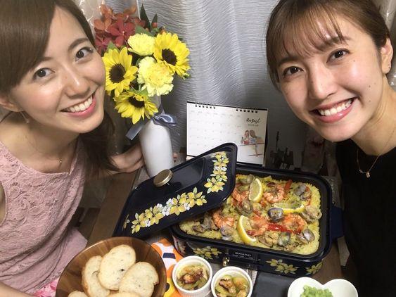 おいしそうな料理と小澤陽子