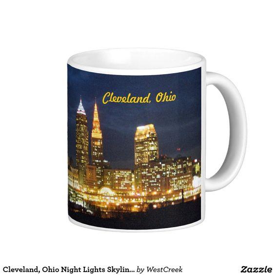 Cleveland, Ohio Night Lights Skyline Mug SOLD Thank you to the South Carolina buyer!