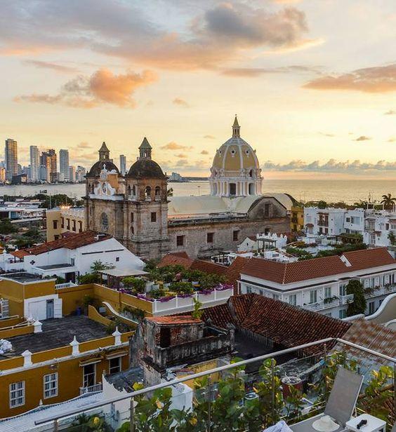 Sunset en Cartagena de Indias, Colombia