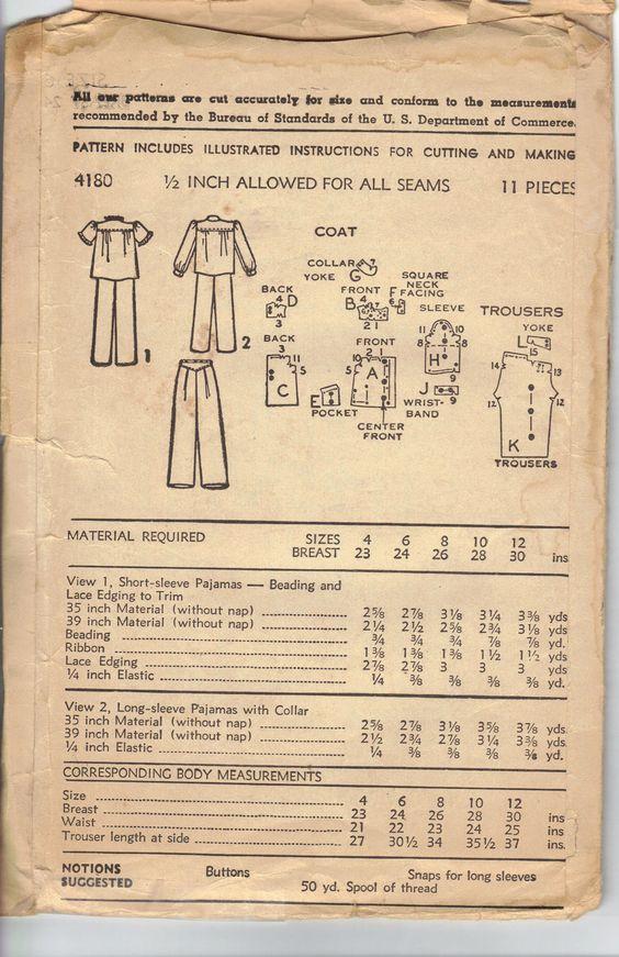Vintage 1950's Girls Pajamas Pattern Advance by AtomicRegeneration
