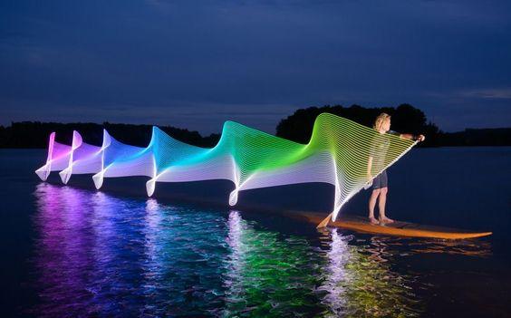 @designboom : stephen orlando attaches LEDs to kayak paddles creating mesmeric whorls of light https://t.co/459UZmw9lg https://t.co/kfhMOa73ZX