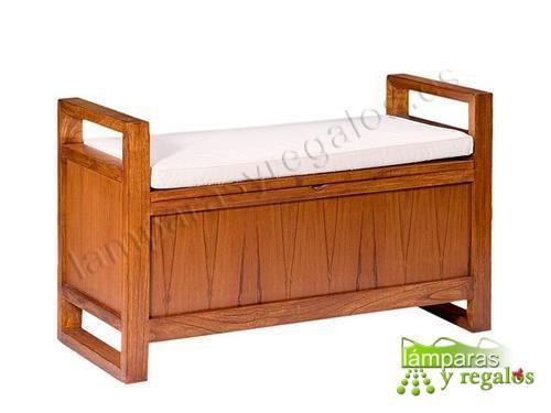 Banco ba l de madera ideal para poner en una habitaci n o - Banco baul madera ...