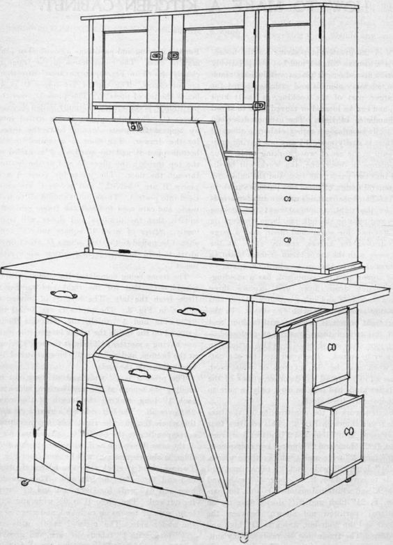 How To Make A Kitchen Cabinet from 'Amateur Work Magazine' c. 1902 ...