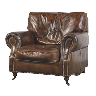 vintage leather armchair...looks comfy