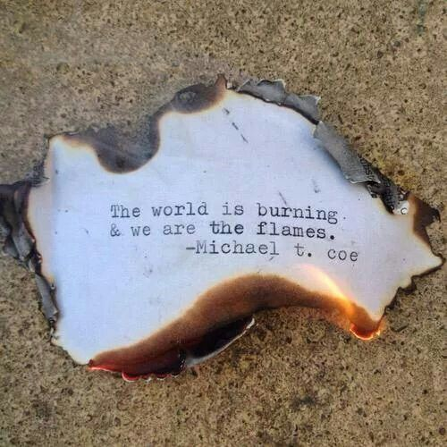 The world is burning