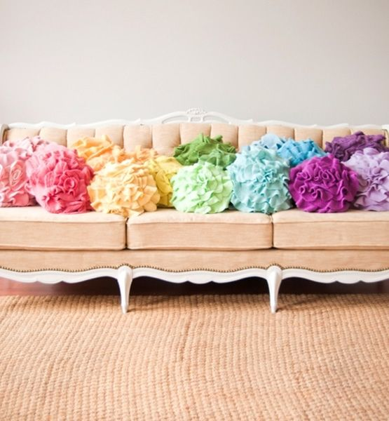 Recycled sweater knit pillows = CUTE = KIDS