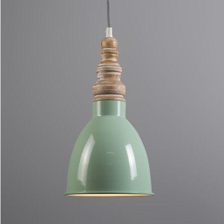 Lámpara colgante OAK verde menta #iluminacion #decoracion #interiorismo