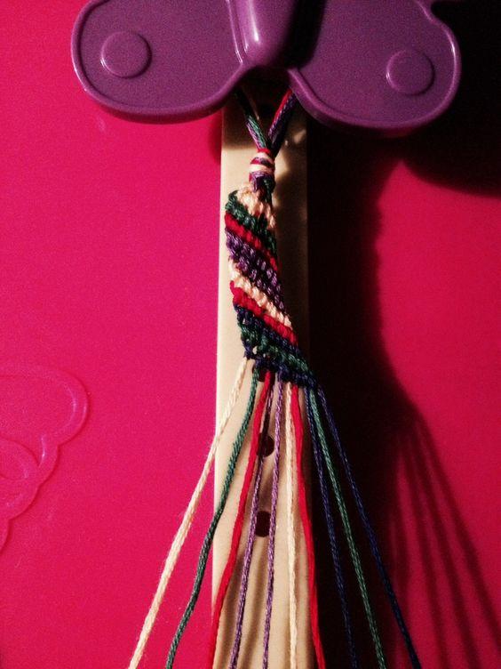 The Basic Diagonal Design Friendship Bracelet I made with my Friendship Bracelet Maker from AC Moore