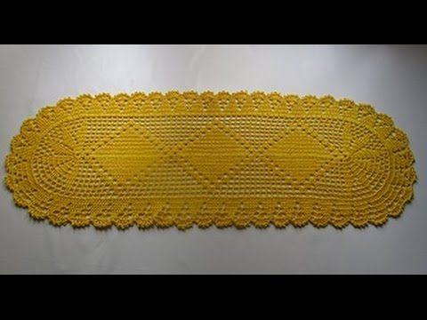 Uncinetto tappeto centrino centro tavola tutorial - YouTube