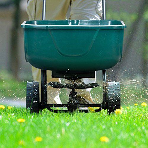 Lawn Garden Fertilizer Spreaders Seeder Push Walk Behind Broadcast