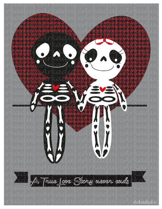 A True Love Story Never Ends by arkadul on Etsy, $5.00