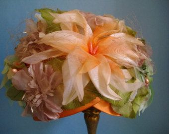 Une couronne de fleurs... Chapeau d'été déesse glamour