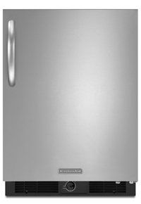 Affordable  Kitchen Aid 5.7 Cu. Ft. Stainless Steel Undercounter Refrigerator - KURS24RSBS