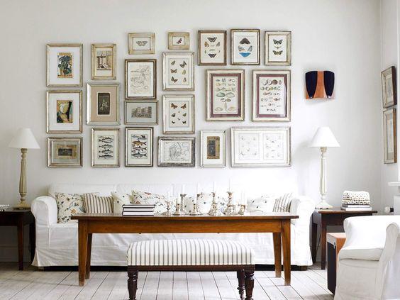 White wooden floorboards & frames