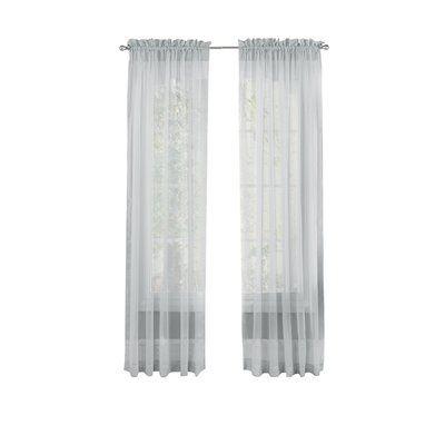 Basics Wayfair Basics Solid Sheer Rod Pocket Curtain Panels Rod