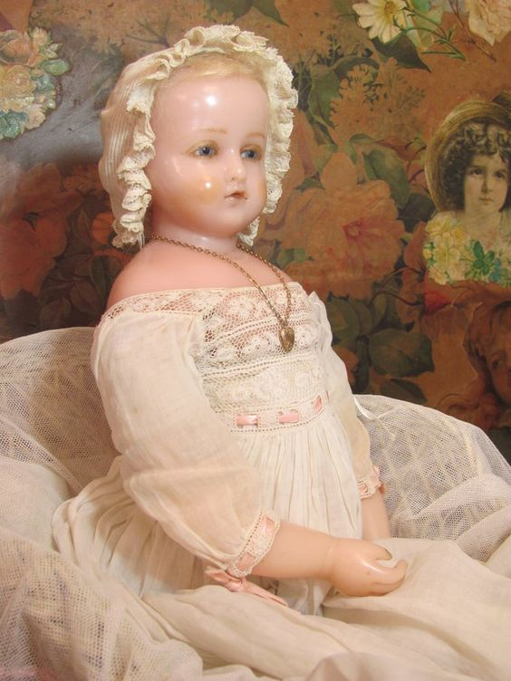 Pierrotti Baby Face_English Poured Wax doll_Circa1871 ...