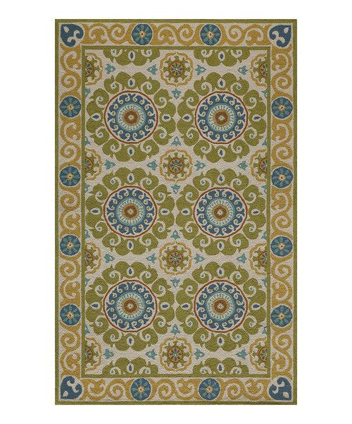 Take a look at the Lime Equilibrium Wool Hooked Rug on #zulily today!