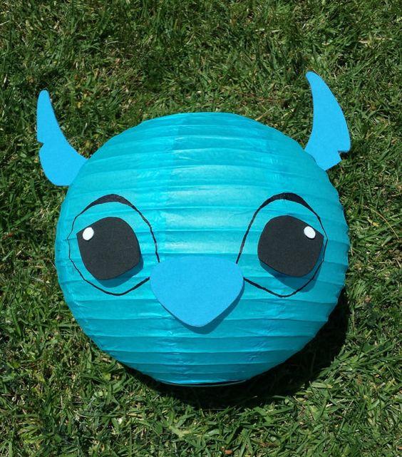 Stitch Inspired Blue Paper Lantern Decoration by adingkaki on Etsy, $12.00
