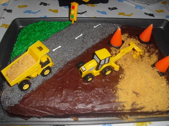Tonka truck birthday cake.  Looking up ideas for the weekend
