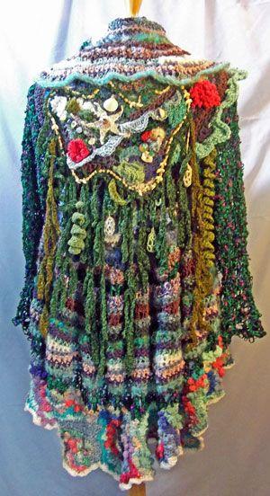 Atlantis-inspired freeform crochet by Barbara Wunder Hynes