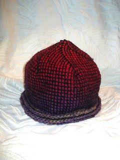 Hat in Ullcentrum's Unspun/Mössa krokad i Förgarn pattern by Monica Svahn