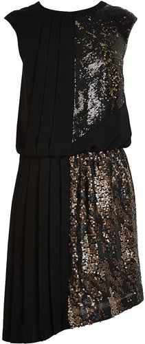 Pin for Later: Be Seen This Festive Season in a Sequinned Party Dress Karen Millen Ltd Ed Sequin Dress Karen Millen Ltd Ed sequin dress (£299)