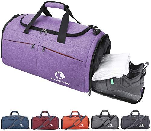 Cat Sports Gym Bag with Shoes Compartment Travel Duffel Bag for Men and Women