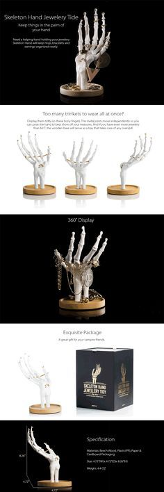 Skeleton Hand Jewellery Tidy Keep things in the palm of your hand