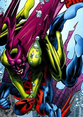 The green goblin 2099 and spiderman 2099