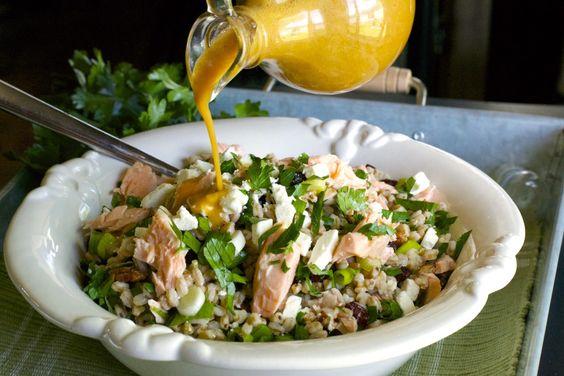 Salmon Farro Salad!!