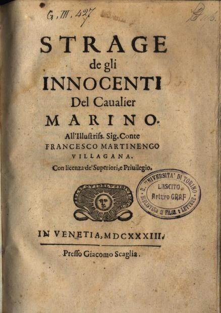1633 Strage de gli innocenti (Giovambattista Marino)