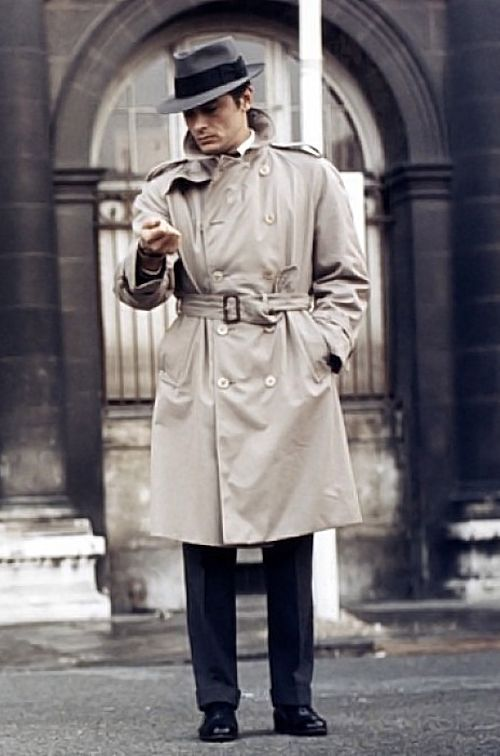Trench Coat Heroes Jean Pierre Melville With Images Trench