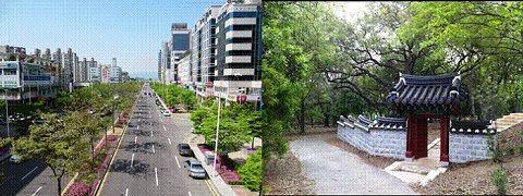 Đường phố và làng quê thanh bình ở Gwangju