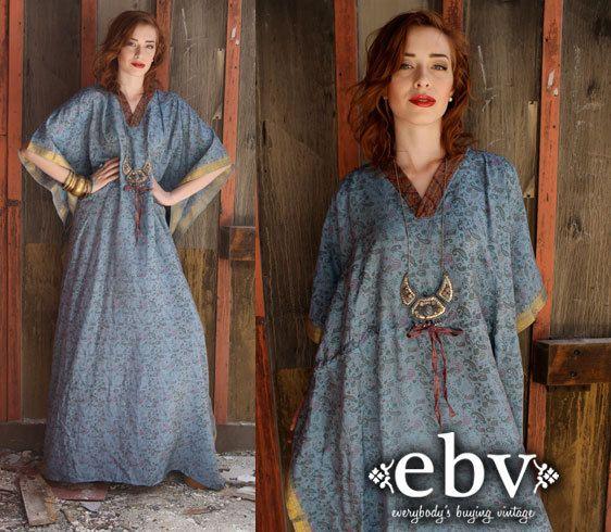 plus size kaftan maxi dress