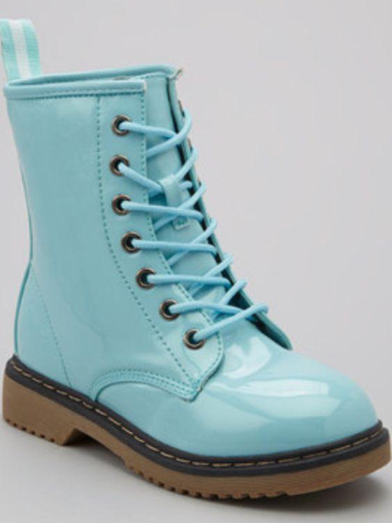baby Blue combat boots | Didi | Pinterest
