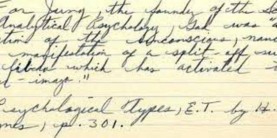 Dr. Martin Luther King Jr. records a portion of Carl Jung's argument that God is a function of the unconscious.