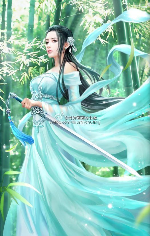 Beautiful Woman Fantasy Art Anime