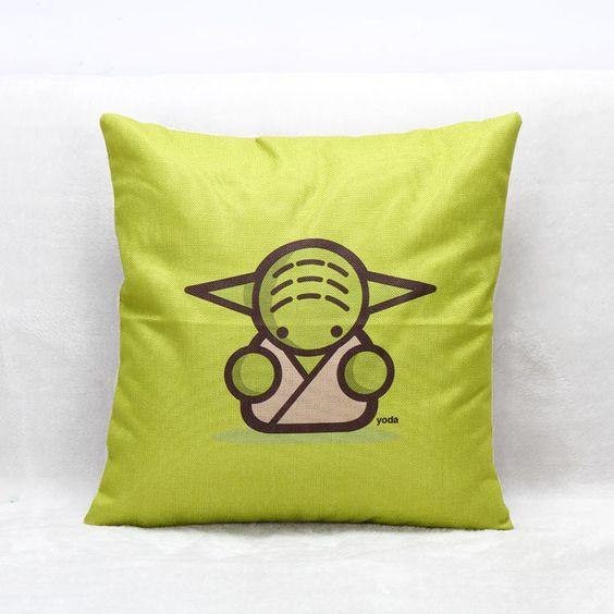 Star War 45 * 45 cm dos desenhos animados de linho almofada de pelúcia pele casa e jardim carros e escritório sem travesseiro dentro em Almofadas de Casa & jardim no AliExpress.com | Alibaba Group