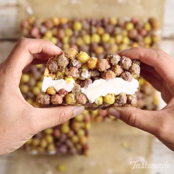 Have breakfast for dessert...or dessert for breakfast with these super simple Cereal & Milk Bars!  Easily choose your fave cereal and make this treat that you can easily eat on the go!