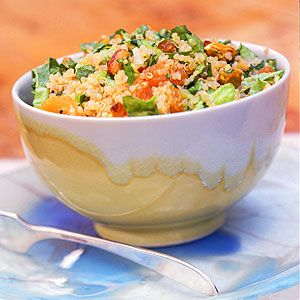 Cooking with Quinoa: 15 Recipes | Quinoa Salad with Apricots and Pistachios | CookingLight.com