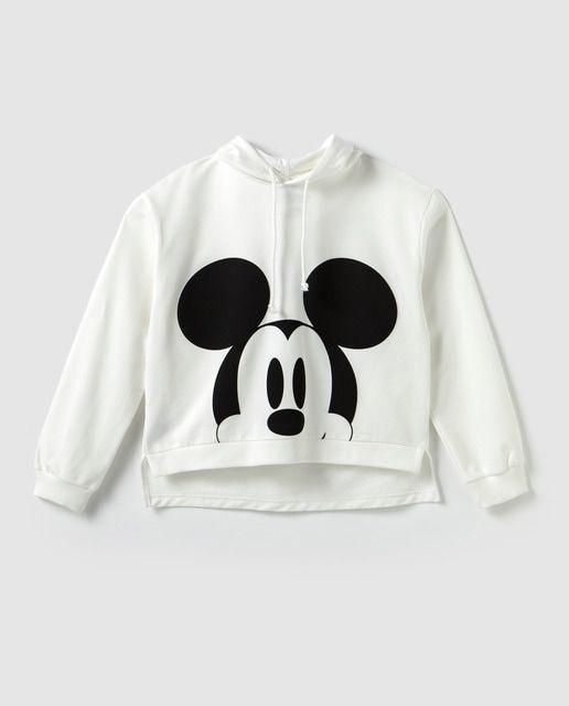Easy Wear Sudadera De Mujer Con Capucha Y Print De Mickey Mouse Sudadera De Mickey Sudadera Mickey Mouse Sudaderas Mujer