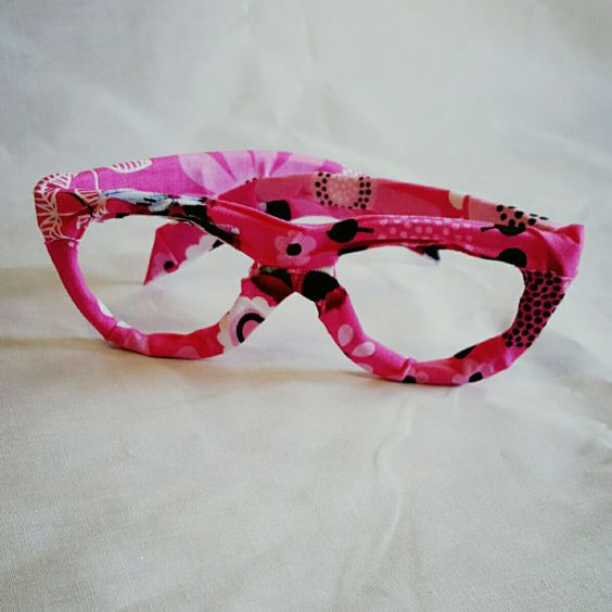 Minnie Mouse Fabric Covered Fashion Glasses by BundlesOfJoyDesigns