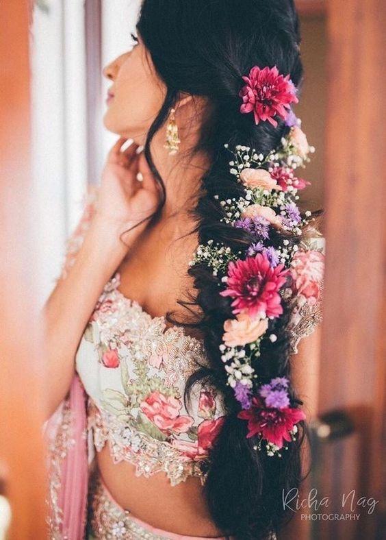 15+ Fishtail Braids on Real Brides Gave Us Legit of #Hairspiration | ShaadiSaga