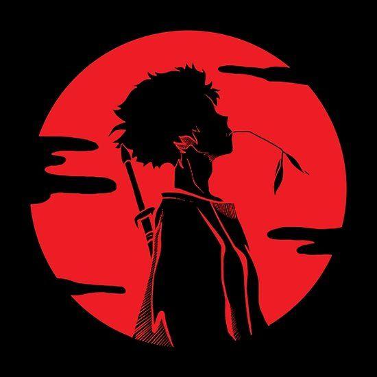 Samurai Champloo Samuraichamploo Mugen Fashion Apparel Clothing Red Moon Silhouette Samurai Champloo Samurai Aesthetic Anime