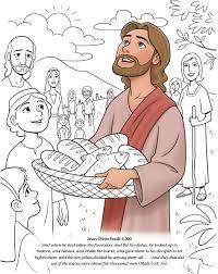 Image result for jesus fed 5000 coloring sheet