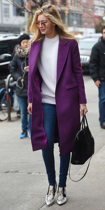 Ultra violet coat - fashion inspiration for the Pantone color of the year 2018